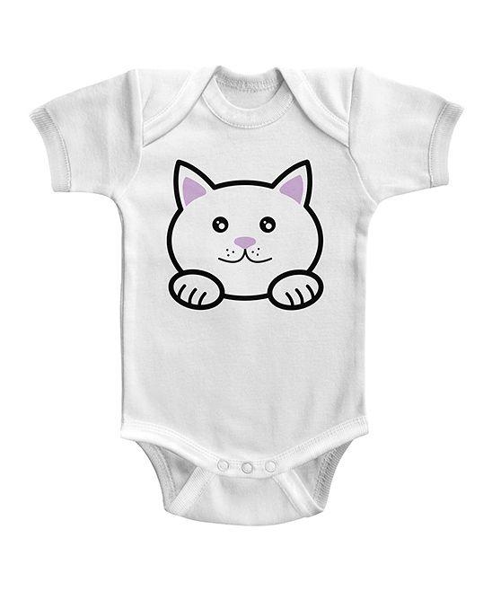 White Kitty Bodysuit - Infant