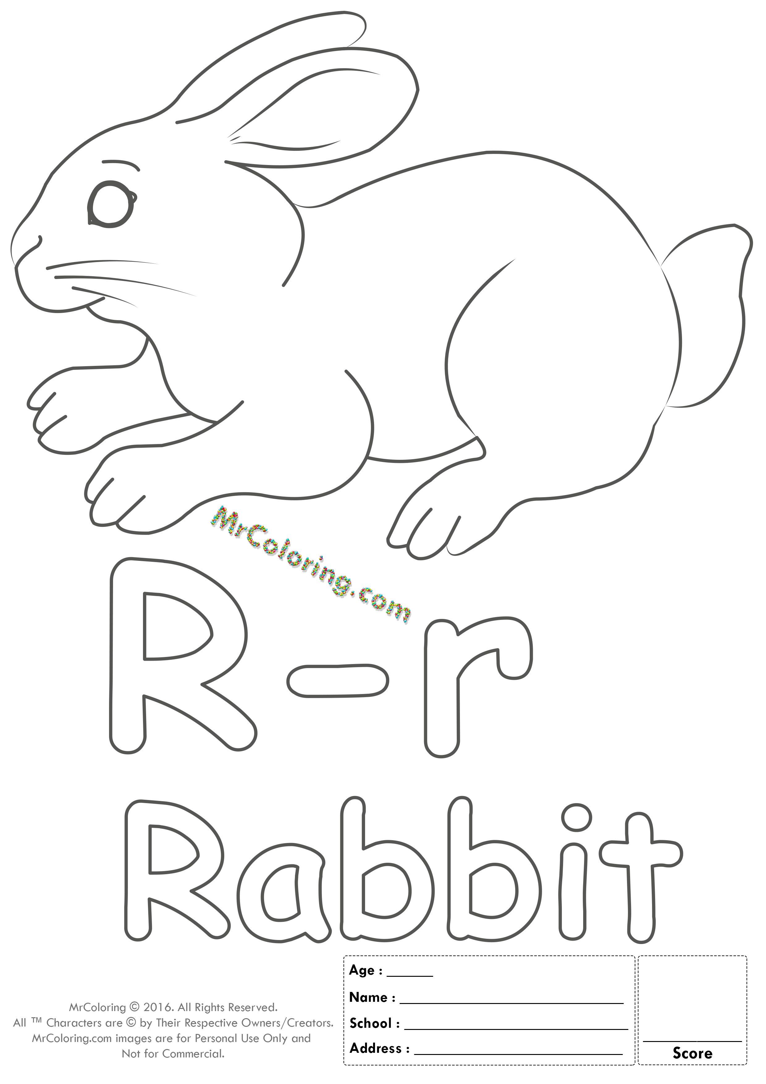 Alphabet Letter Rr Coloring Pages Coloring Worksheets