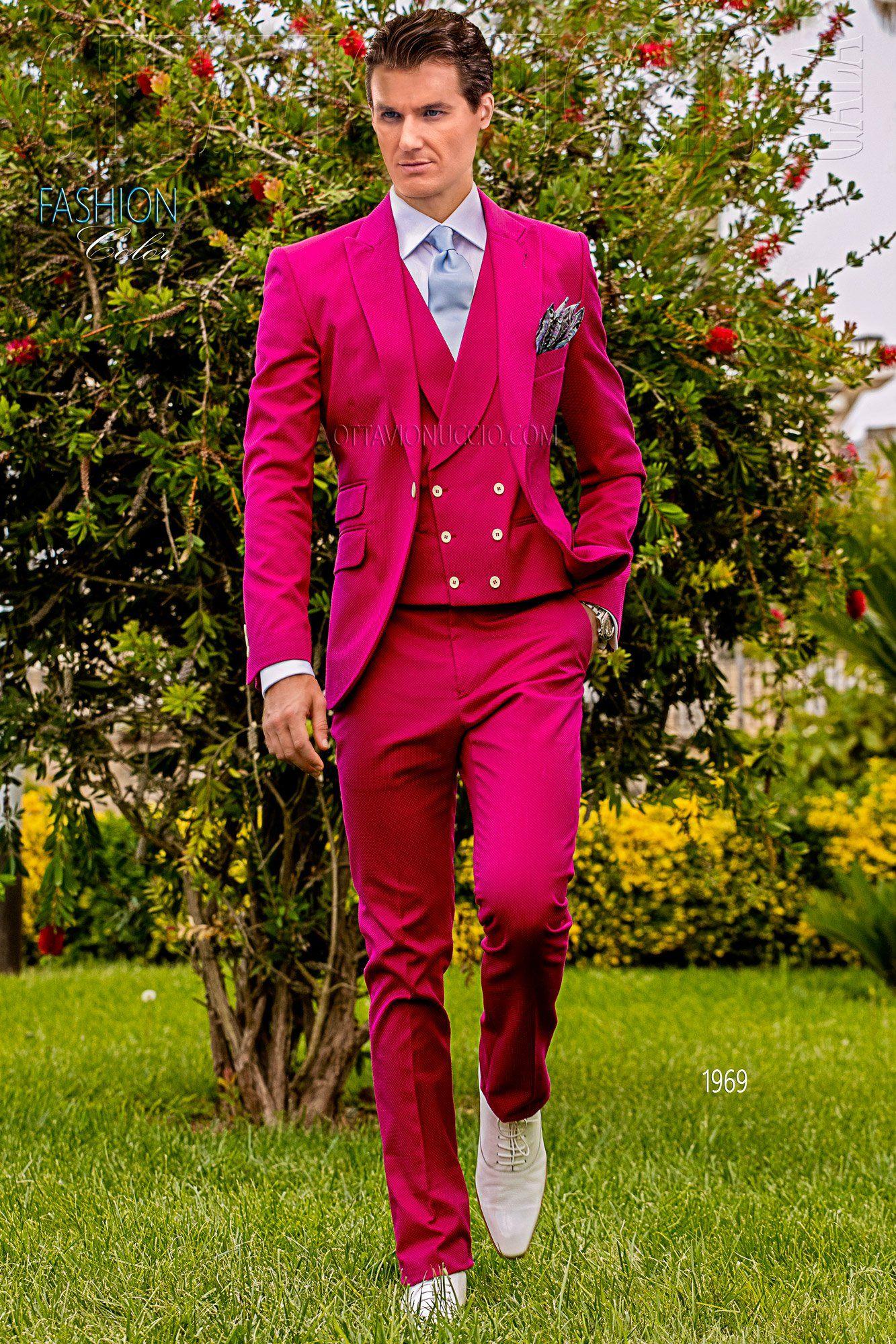 Fuchsia Hipster suit for groom #wedding #tuxedo #luxury #menswear ...