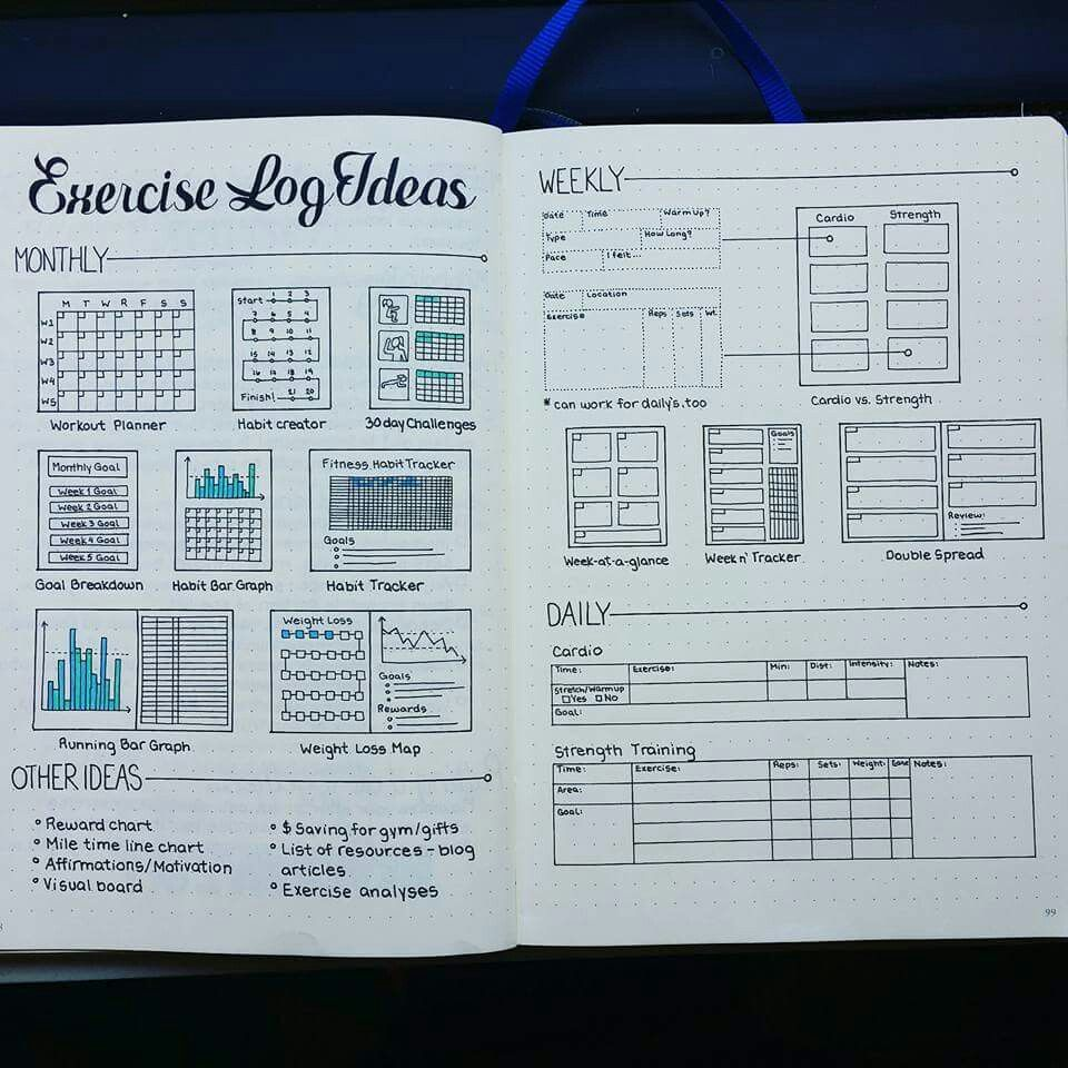 workout log ideas bullet journal bullet journal bullet journal