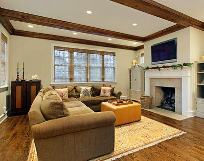 faux wood ceiling beams, idea for the living room and sheets for wall in  bathroom