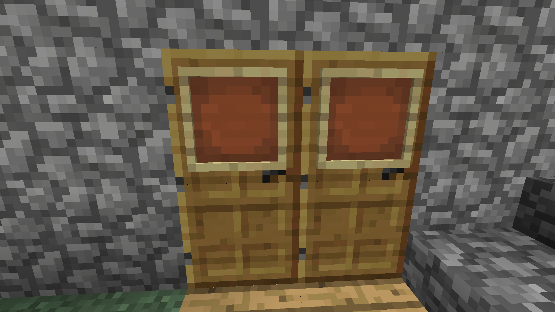 Pro Tip: Cover doors with item frames to keep the inside