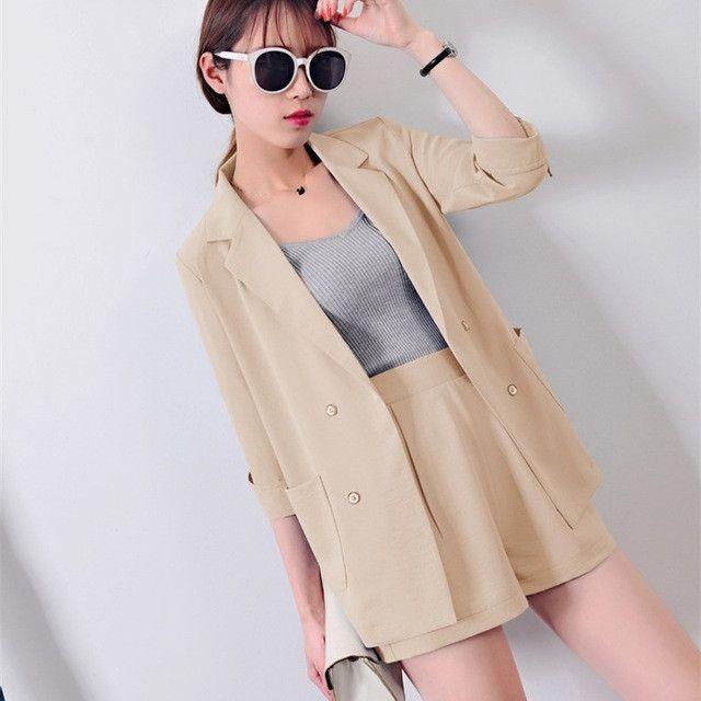 Women's Pant Suits Formal Work Wear Blazer Set Business Office ...