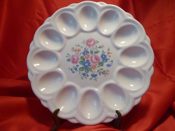 American Art Pottery Deviled Egg Plate. Vintage by RagstersVintage, $21.00