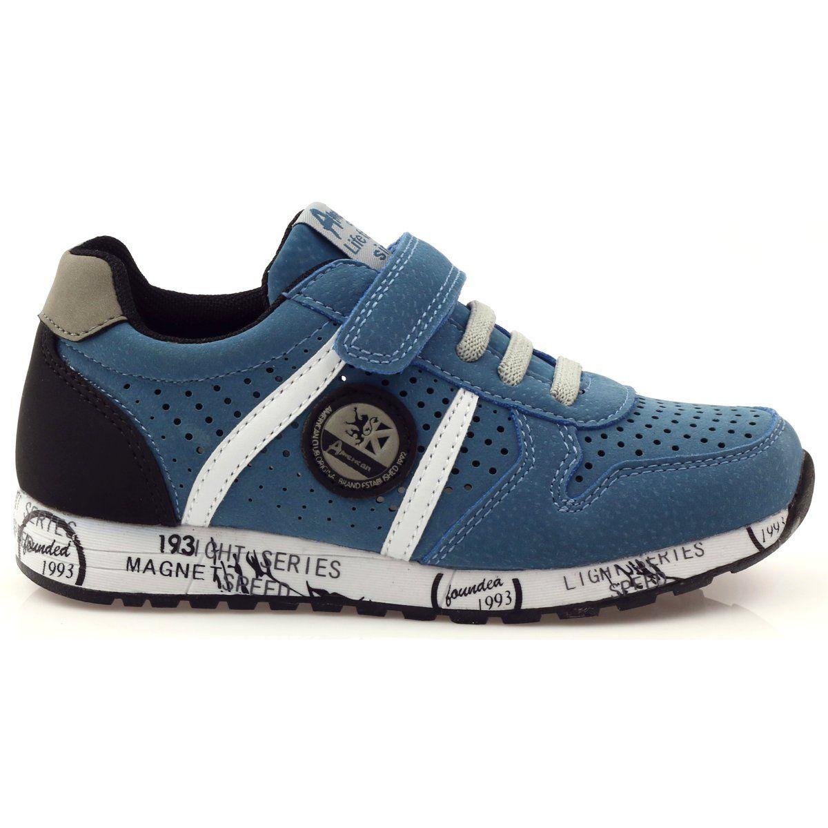 American Club Adi Sportowe American Wkladka Skorzana Szare Niebieskie Czarne Biale Sneakers Men Sneakers Shoes