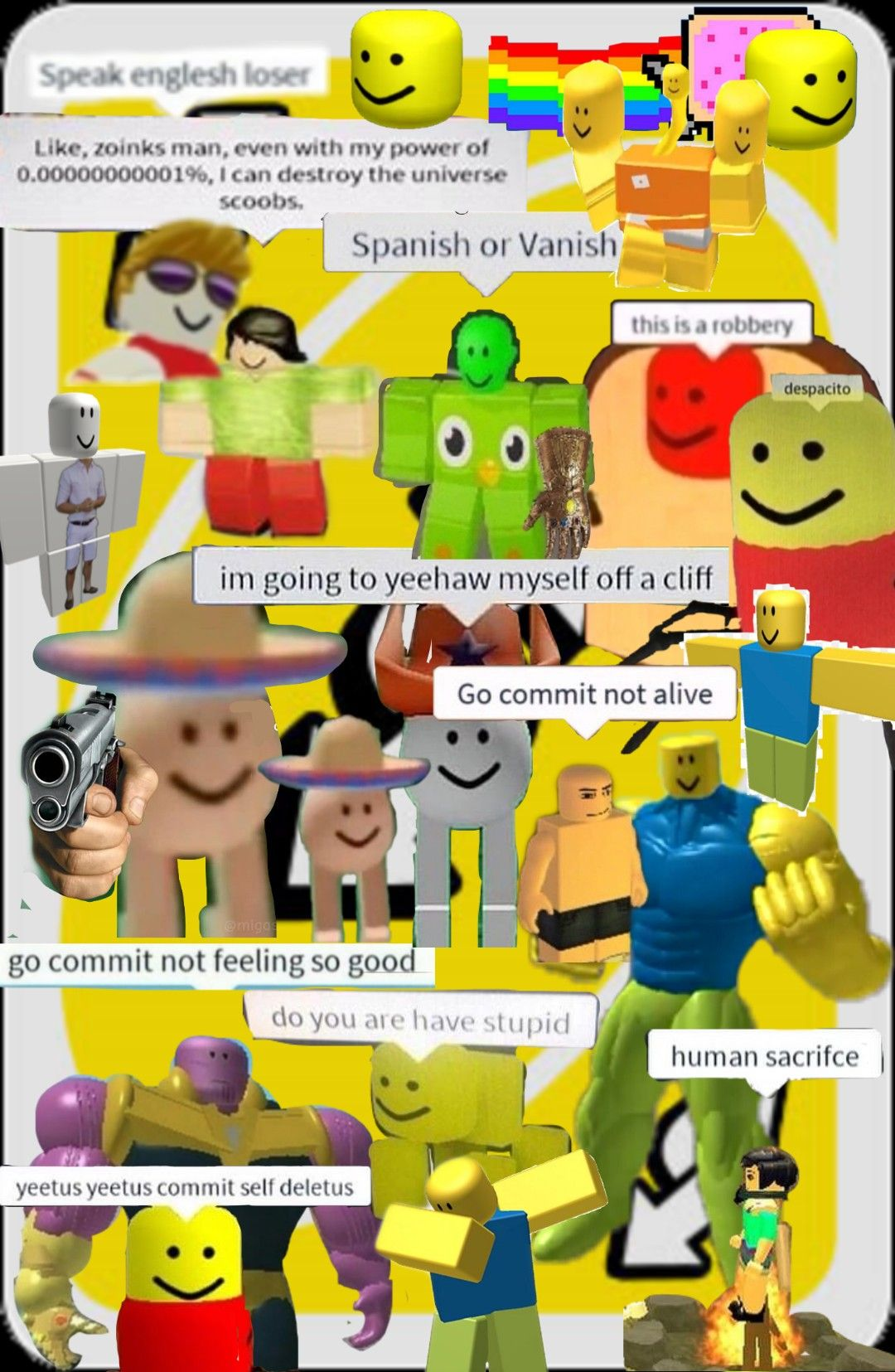 This Is How Many Roblox Memes I Was Able To Fit On An Uno Reverse