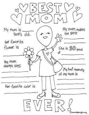 Mothers Day Coloring Pages To Celebrate The BEST Mom | Pinterest |  Worksheets, Free Printable And Kindergarten