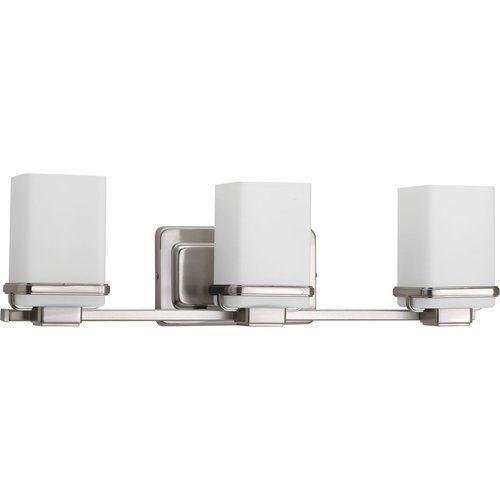 Photo of Progress Lighting Metric 3 Light Bathroom Light – Brushed Nickel P2195-09