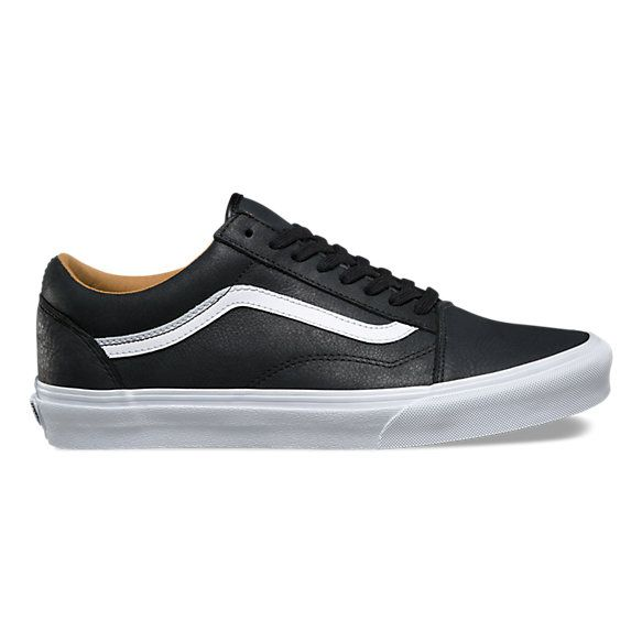 Premium Leather Old Skool | Leather vans, Stylish sneakers