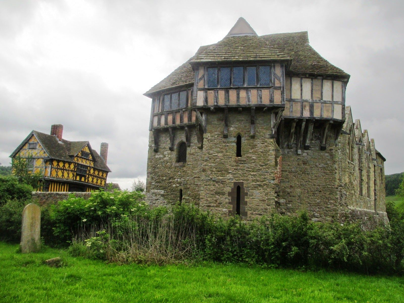 Stokesay Castle and its gatehouse, Shropshire