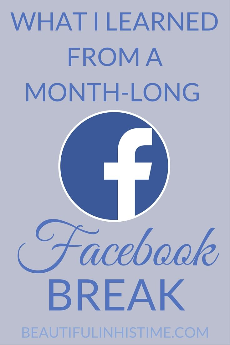 What I learned from a monthlong Facebook break Social