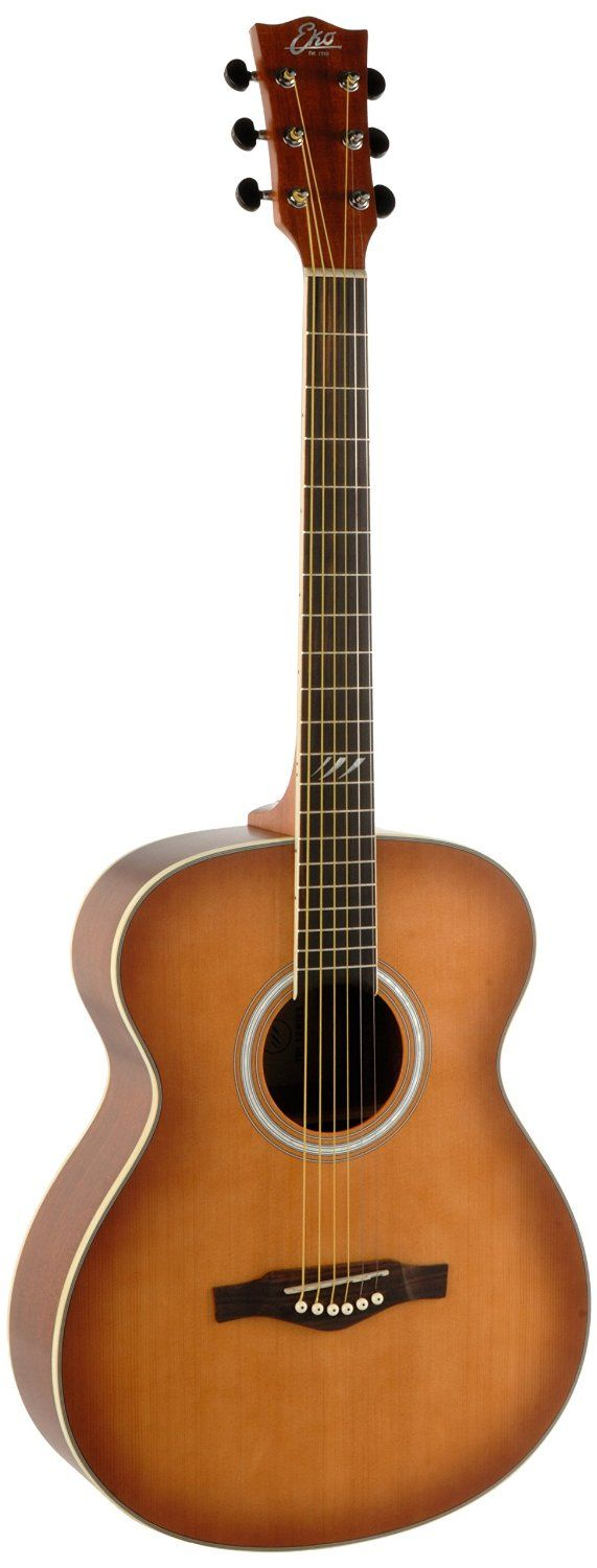 EKO Guitars 06217105 TRI Series Auditorium Acoustic Guitar - Honey Burst