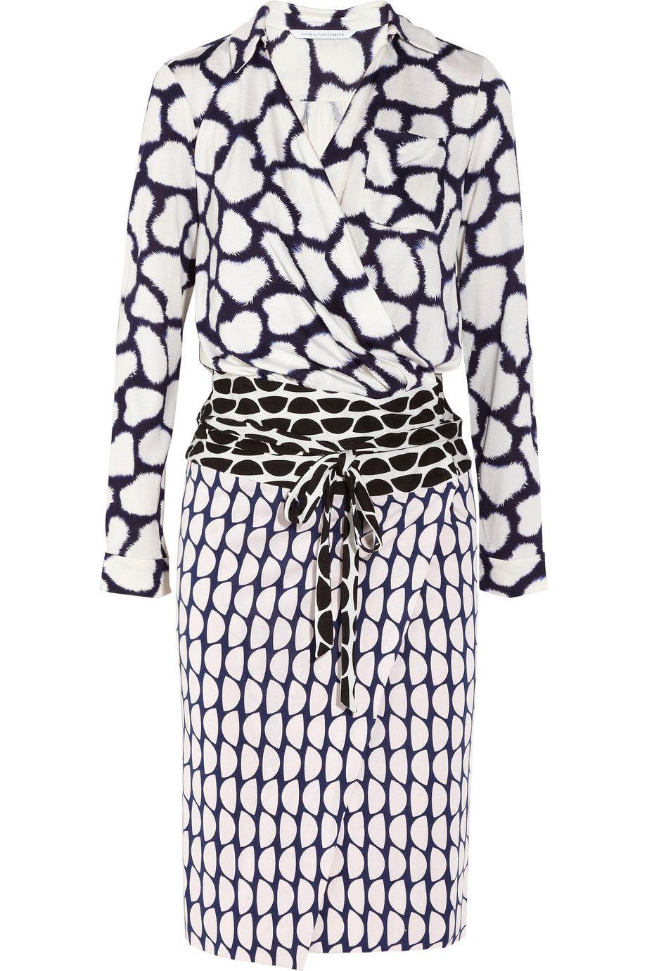 Diane von Furstenberg   Terry printed silk-jersey wrap dress   NET-A ...