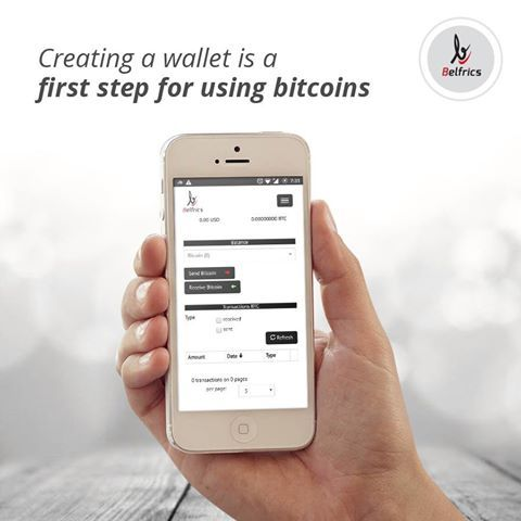 Creating a wallet is a first step for using Bitcoins.  #Bitcoin #DigitalCurrency #Cryptocurrency #BlockChain #Belfrics Visit @ https://www.belfrics.com