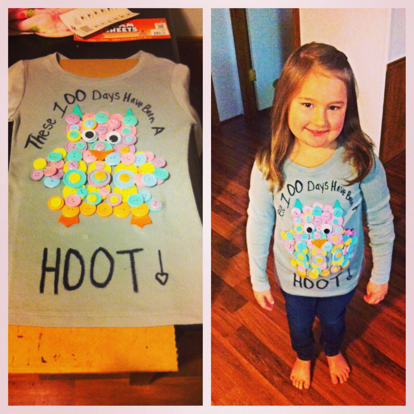 100 day of school shirt we made!! | 100th day of school ideas ...
