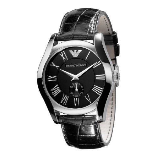 4d6b7a305fa Emporio Armani Men s AR0643 Classic Black Leather Black Roman Numeral Dial  Watch Emporio Armani.  163.99