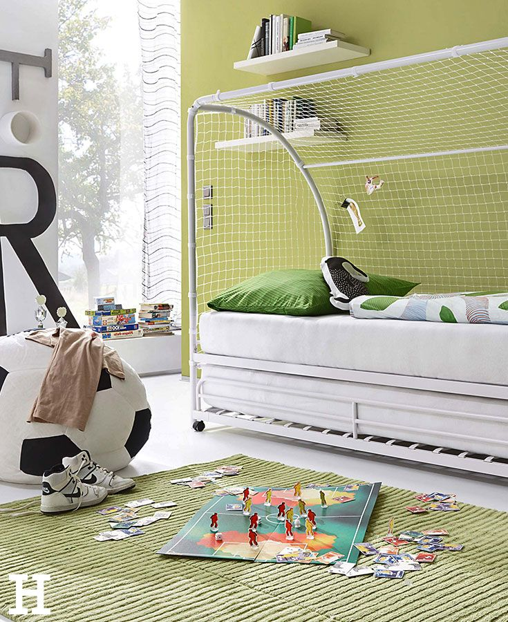 kinderzimmer f r fu ballfans kinderzimmer jungs motto fu ball einrichting idee baby. Black Bedroom Furniture Sets. Home Design Ideas