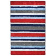 Blue White Red Striped Rug Google Search Striped Rug Rugs