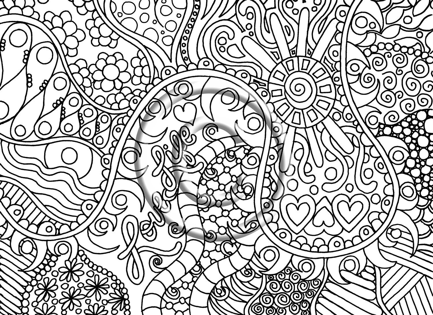 Printable download coloring page, hand drawn zentangle inspired Zendoodle Abstract Coloring Pages zendoodle coloring book pages Dragonfly Zendoodle Coloring Page