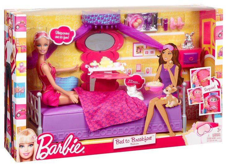 Barbie Television Set | doll set barbie bed to breakfast bedroom and ...