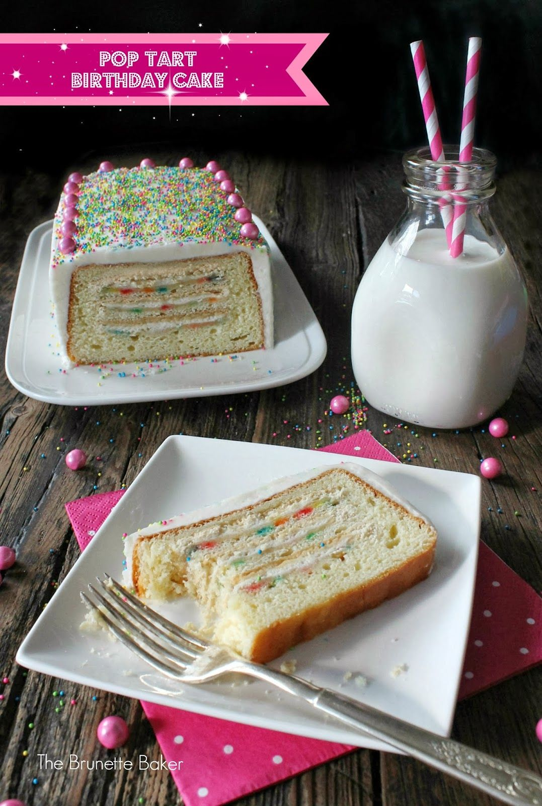 The Brunette Baker Pop Tart Birthday Cake