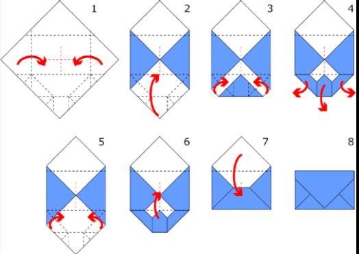 origami envelope emballage pinterest origami papier et enveloppe origami. Black Bedroom Furniture Sets. Home Design Ideas