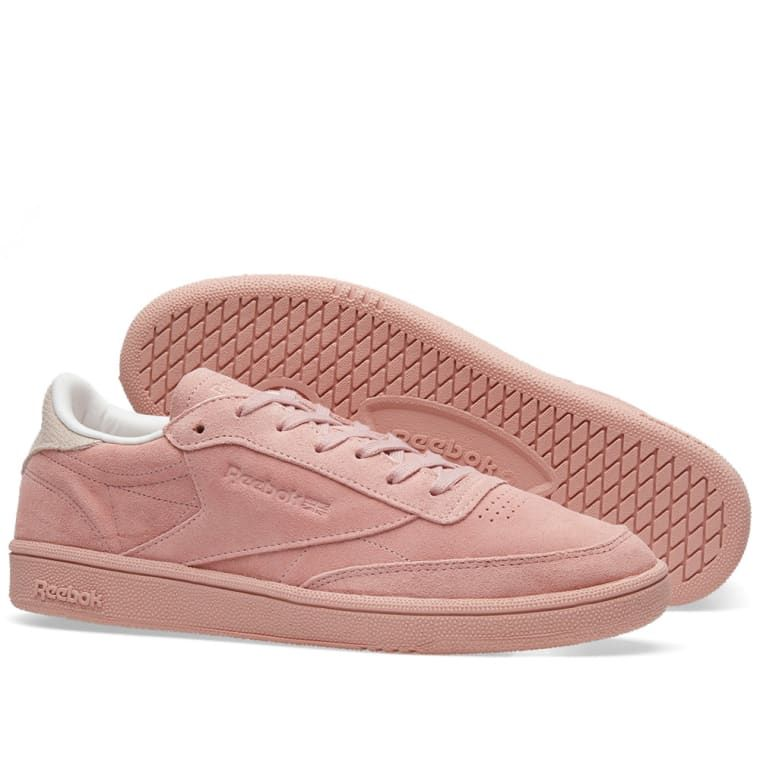 d3d0656c7ae4 Reebok s Womens Club C 85 NBK s are built with classical soft suede uppers.  Underfoot