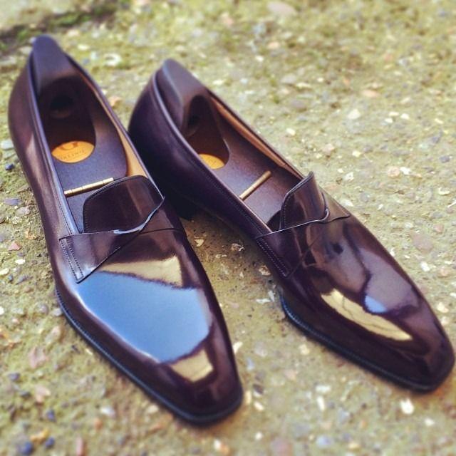 gazianogirling: Bespoke Antibes in dark burgundy calf ...