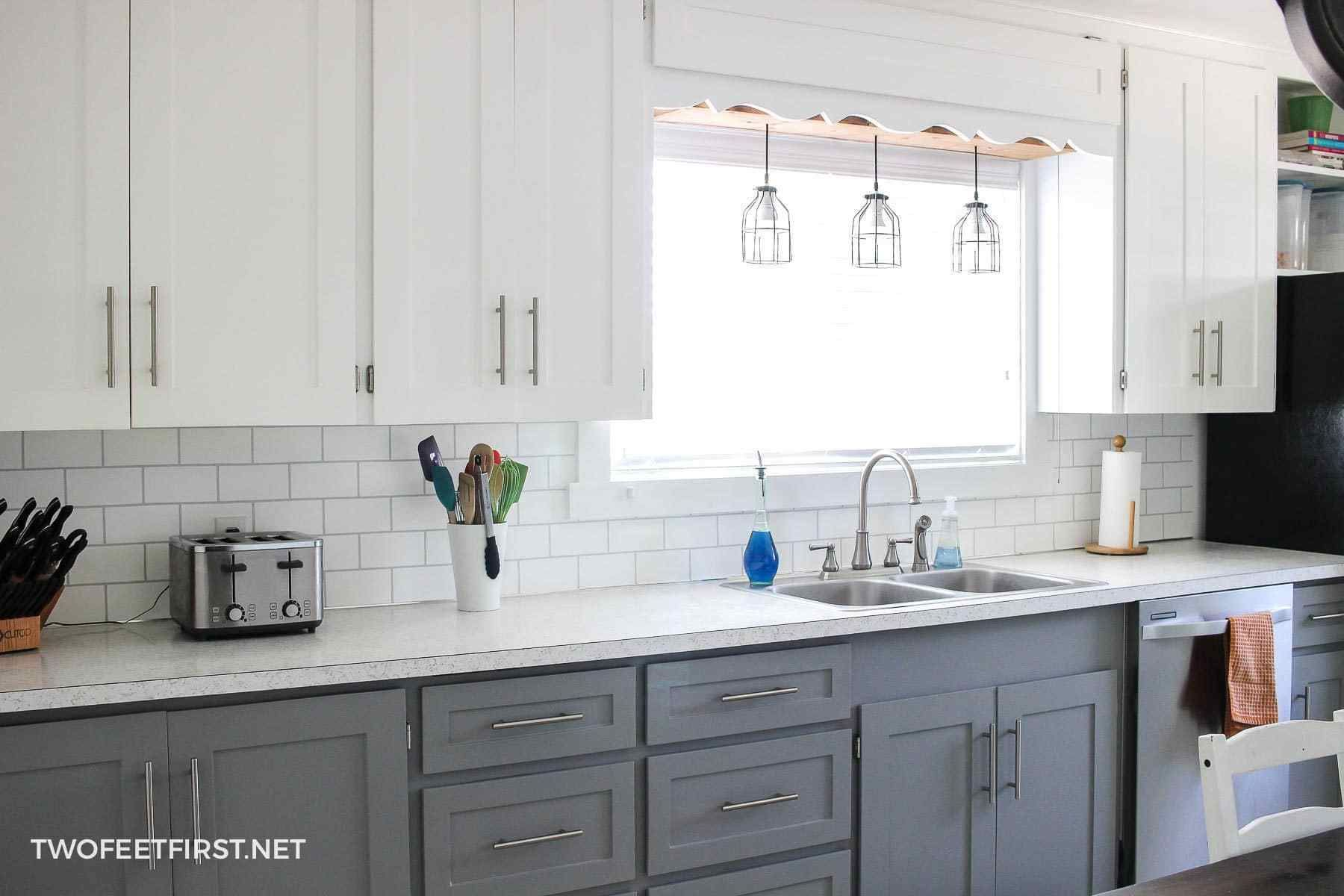 Update Kitchen Cabinets for Cheap - Update kitchen cabinets, Old kitchen cabinets, Kitchen cabinets makeover, Updated kitchen, Kitchen renovation, Diy kitchen cabinets - Are you wondering how to update your kitchen cabinets on a budget  This is a simple way to make your cabinets look modern with paint and trim