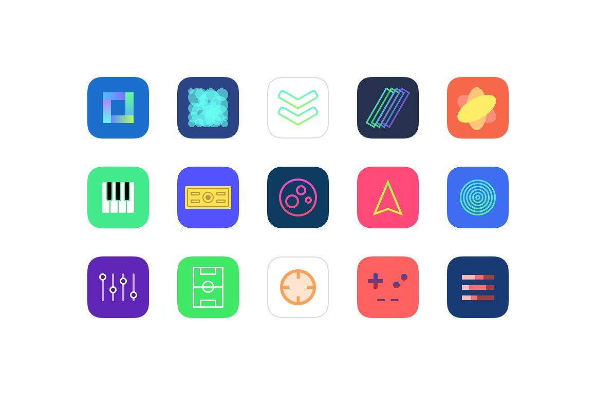 Jellycons 100 iOS 8 App Icons JPGEPSPDFPNG App