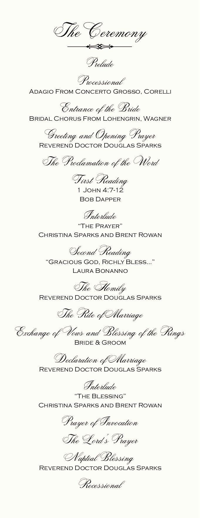 Catholic Wedding Ceremony Program Templates Inspirational