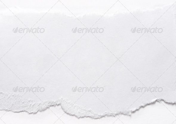 A piece of paper on white abstract, background, blank - blank memo