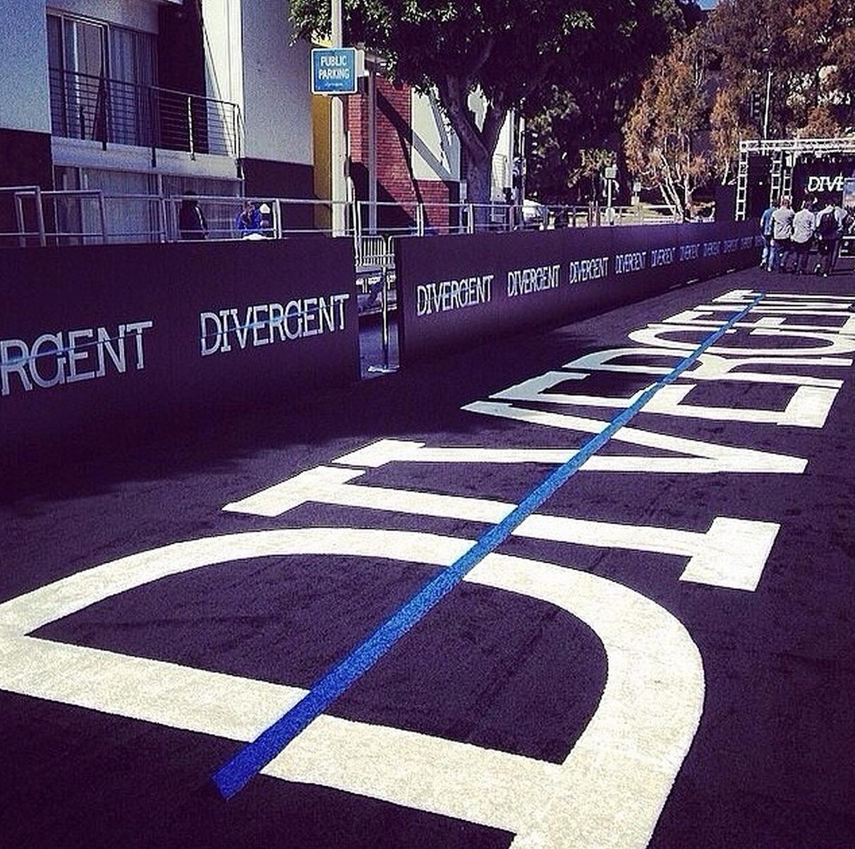 #DivergentPremiere is starting! I LOVE THE CARPET!