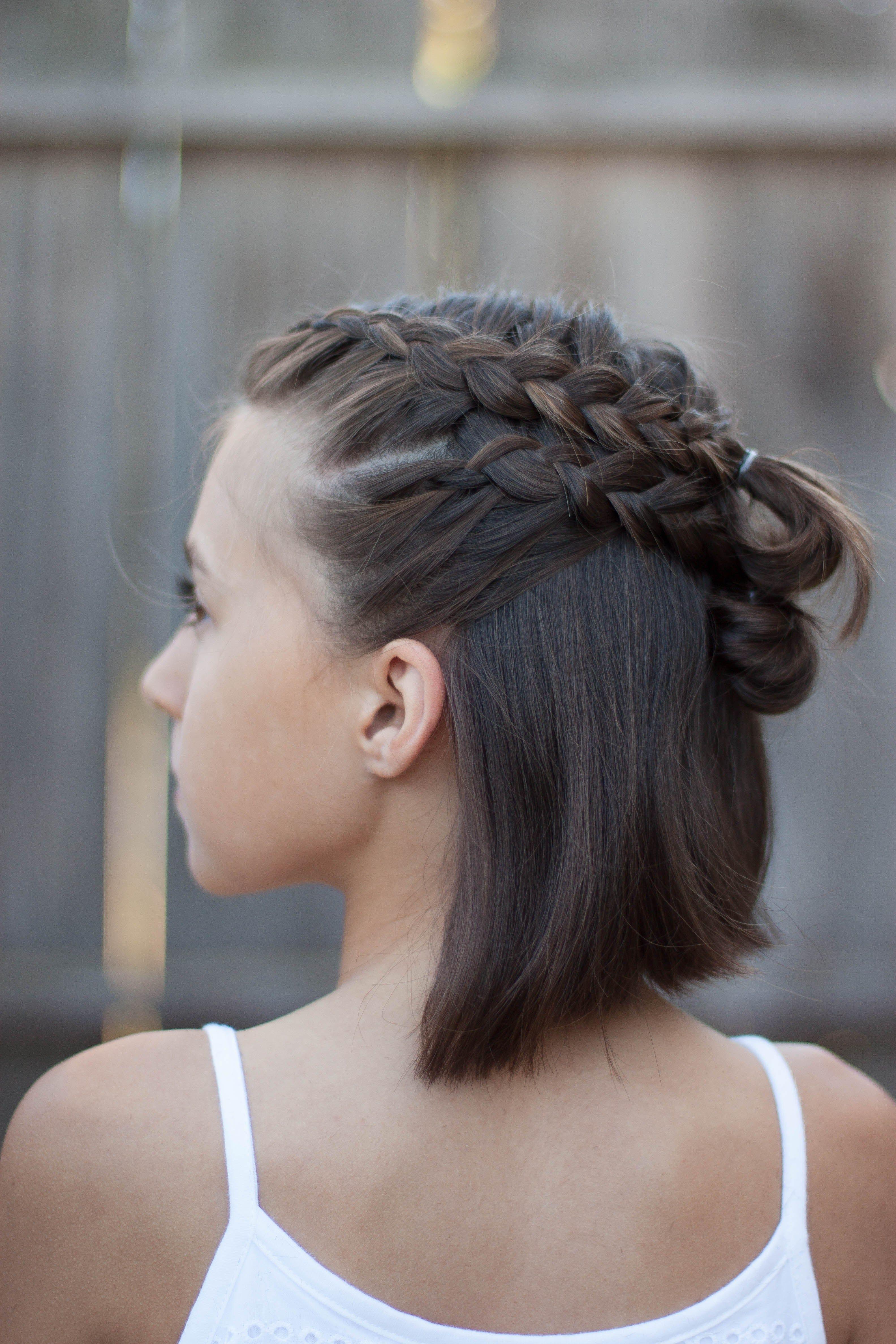 pin von mira auf hair | zopf kurze haare, frisuren