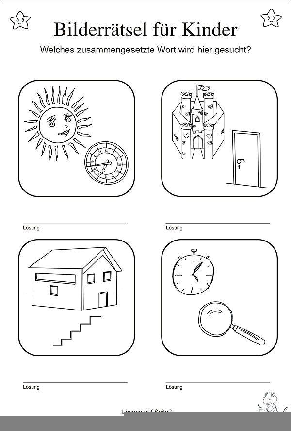 Bilderrätsel für Kinder   Geburtstagszeitung   Pinterest   für ...