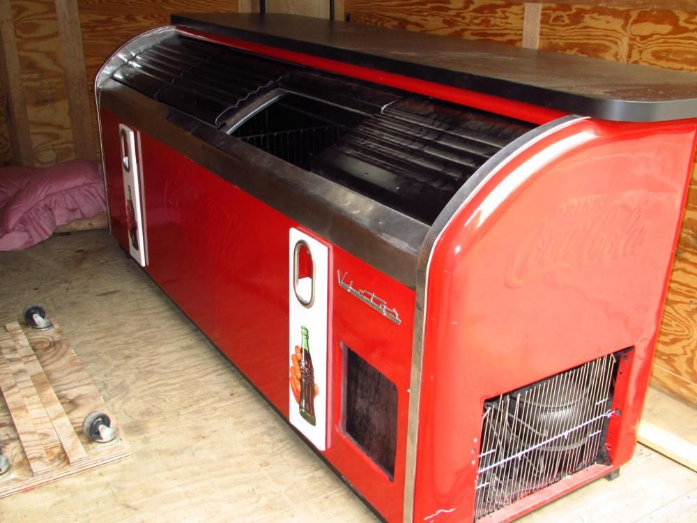 Previously restored 4 door victor c 45 coca cola cooler for 1 door retro coke cooler
