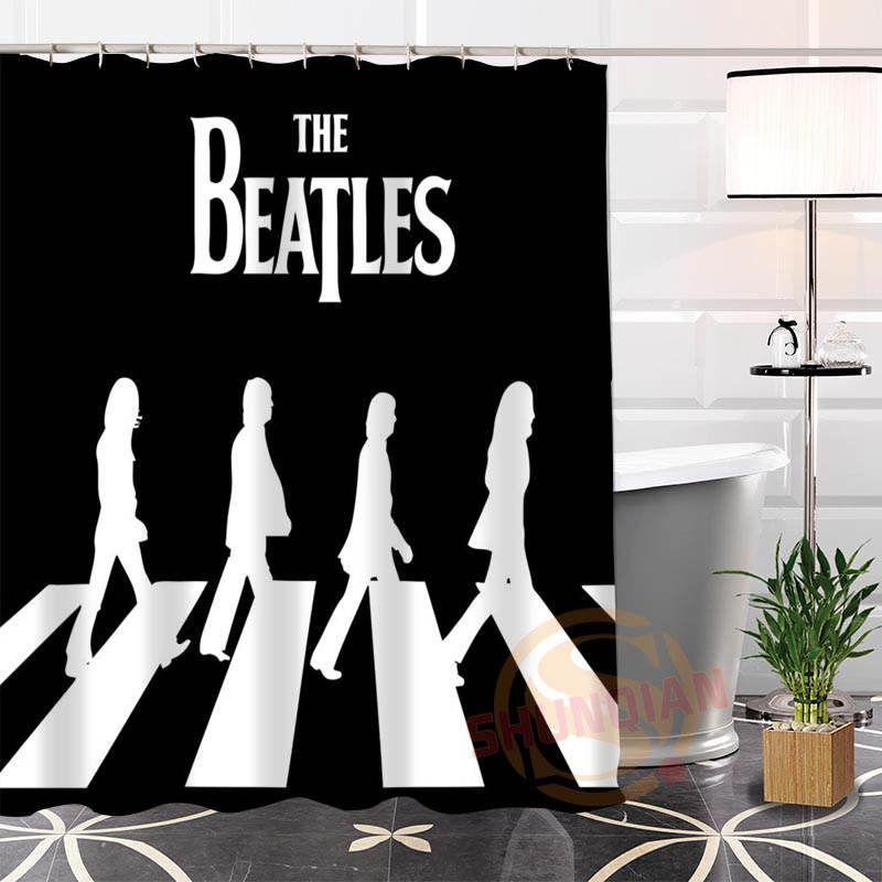 Best Nice Custom The Beatles Shower Curtain Bath Curtain Waterproof Fabric  For Bathroom MORE SIZE WJY