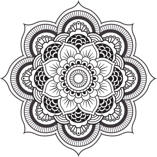 diseno-mandala-para-colorear-1.jpg (649×649) | dibujos con líneas ...