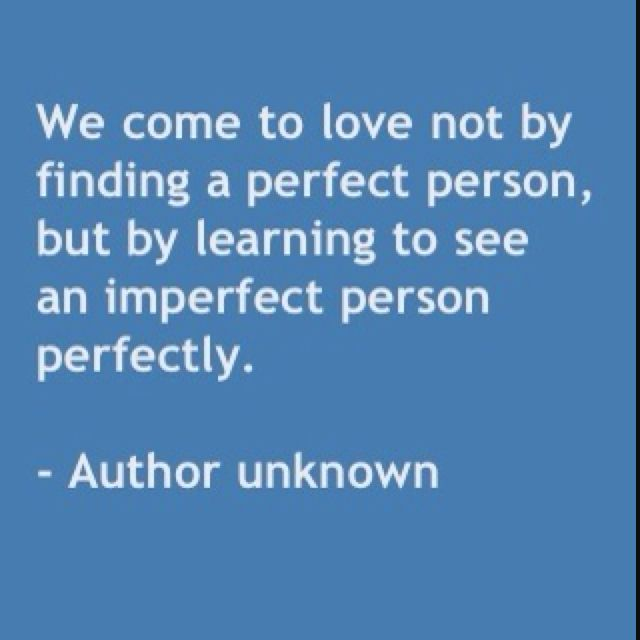 Lovely Imperfect People, Perfect Love