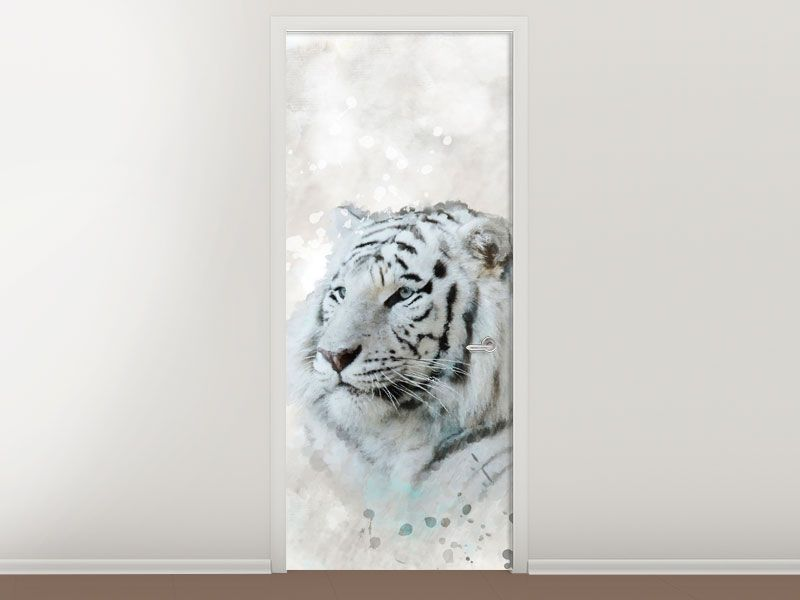 Tür #Tapete Tiger-Gemälde   Türtapeten Raubtiere   Pinterest   Tigers