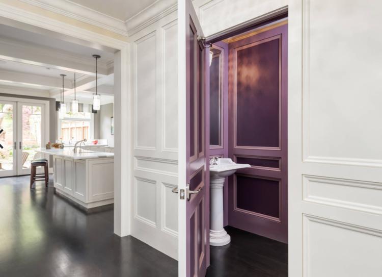Zimmertür Wandfarbe Streichen Lila Weiß #fenster #türen #windows #doors
