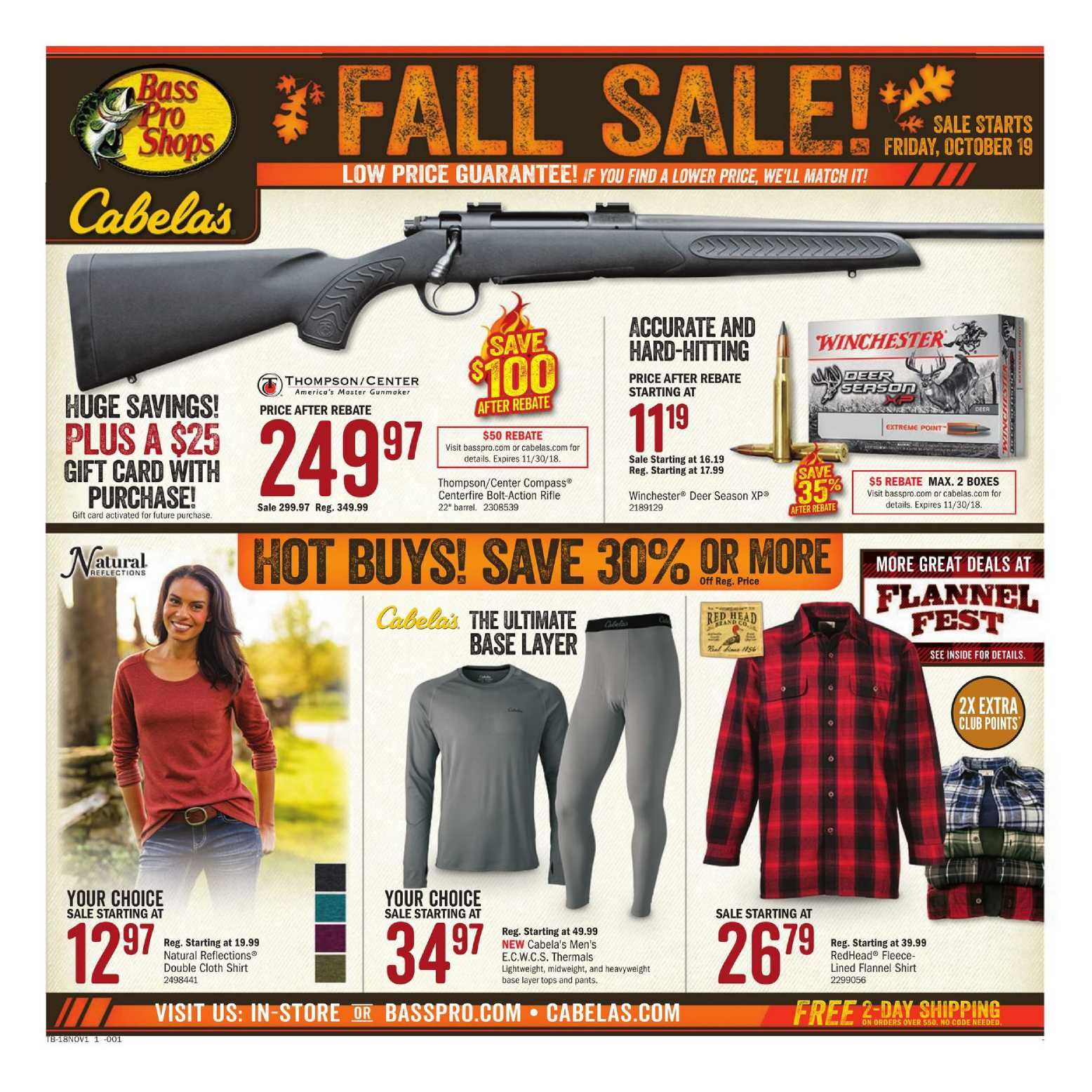 Bass Pro Shops Store Flyer January 11 - 27, 2019 | Weekly Ad