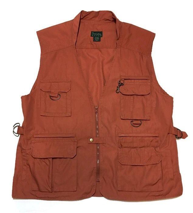 SCANDIA WOODS Fishing Vest XL Rust Hunting Safari Multi-Pockets  | eBay