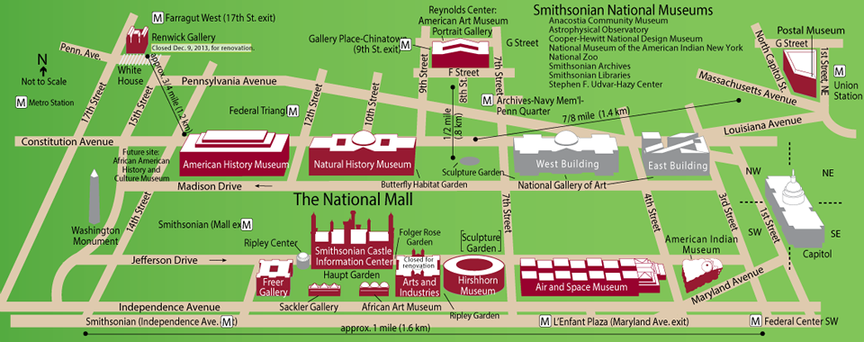 Smithsonian Washington Dc Map.Smithsonian Museum Map Dc Trip Dc Travel Blue Ridge Parkway Museum