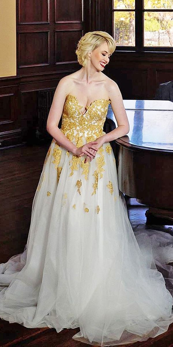 04bd05dda95 Colorful Wedding Dresses For Non-Traditional Bride ❤ See more  http
