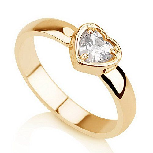 Heart Ring Promise Ring Gold Couple's Ring -Available Sizes 5,5.5,6,6.5,7,7.5,8,8.5,9 (9.5)