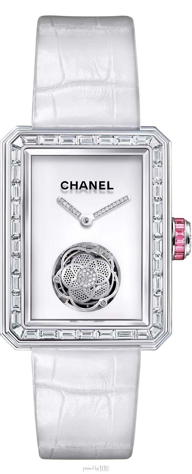 b96961b665d Baselworld 2014 watch review  the new Chanel Premiere Flying Tourbillon  watch with pink sapphires