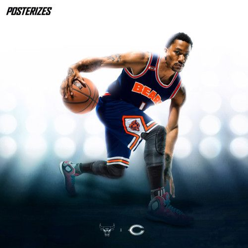 official photos a3692 00d7e Chicago Bears basketball uniform | People I Admire in 2019 ...