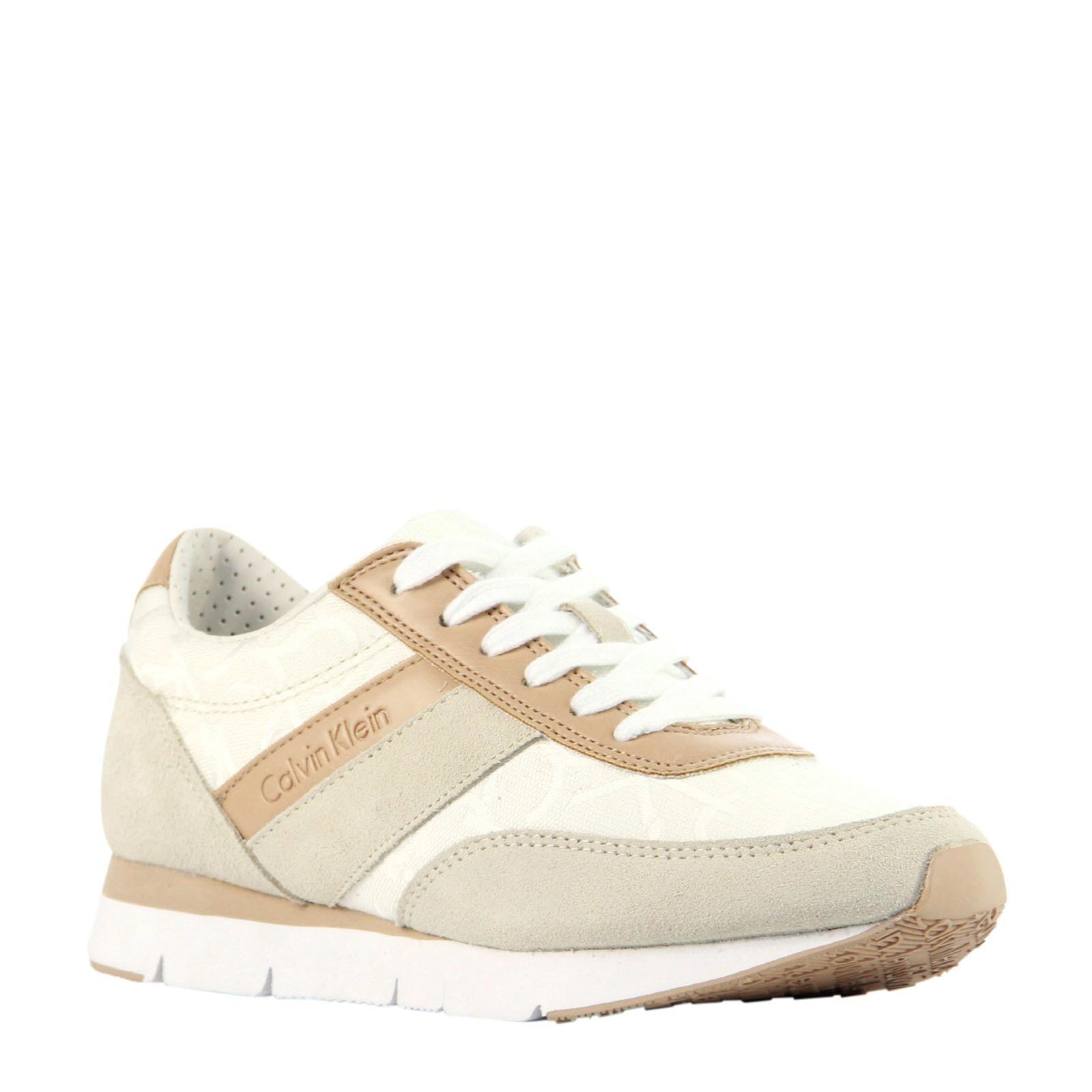 Fraaie Calvin Klein suède sneakers (Creme/wit) Sneakers van ...