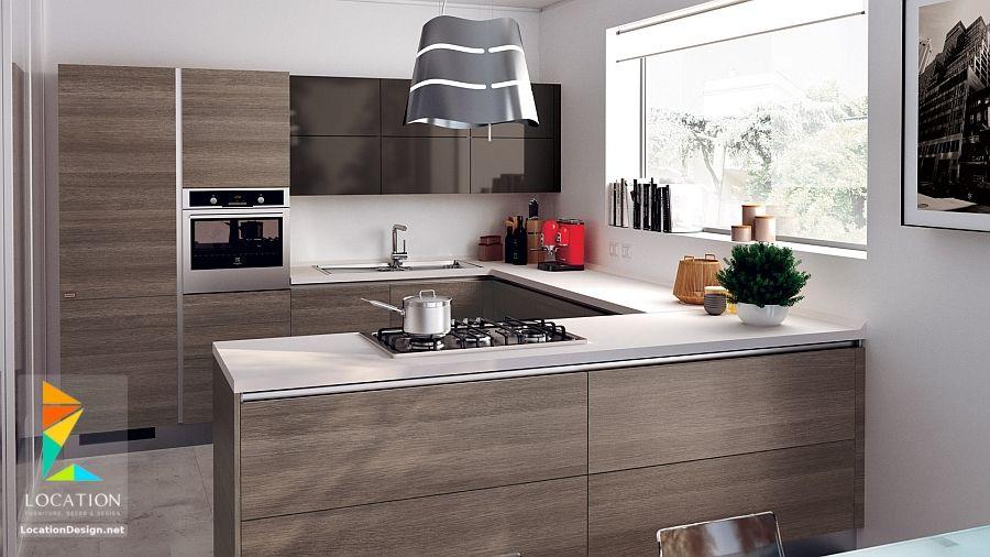 ديكورات مطابخ مودرن صغيرة لوكشين ديزين نت Small Modern Kitchens Simple Kitchen Design Kitchen Inspiration Modern